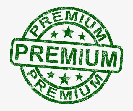 Premium Stamp Showing Excellent Superior Premium Product Stock Photo - 13965470