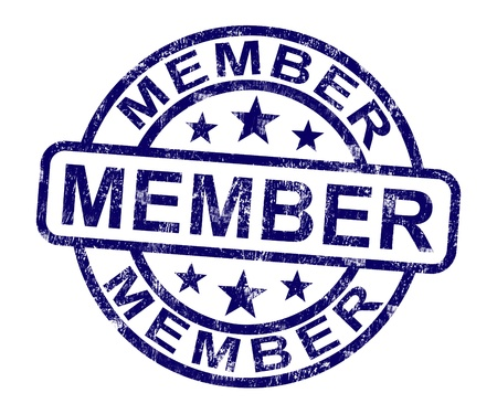 subscribing: Member Stamp Showing Membership Registration And Subscribing