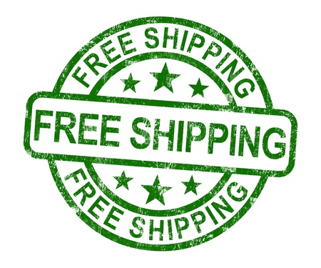 Free Shipping Stamp Shows No Charge Or Gratis To Deliver Stock Photo