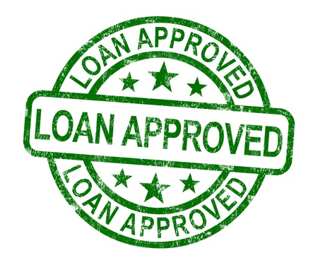 approved: Loan Approved Stamp Showing Credit Agreement Ok