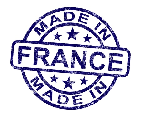Made In France Stamp Showing French Product Or Produce photo