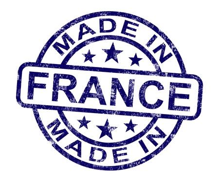 rendu: Made In France timbre indiquant Produit fran�aise ou de produire des Banque d'images