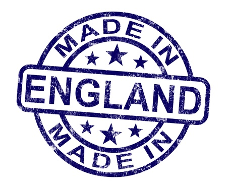 Made In England Stamp Showing English Product Or Produce photo