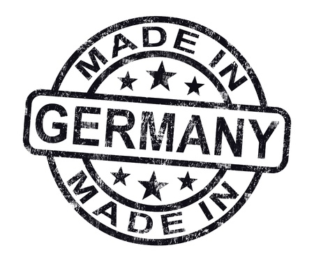 made in: Made In Germany stempel met Duitse Product of produceren