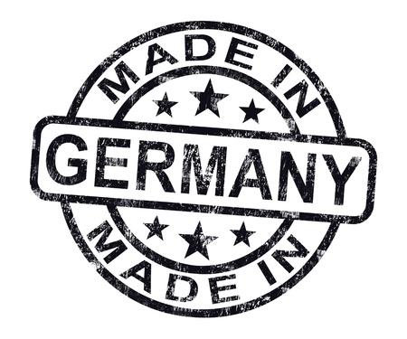 rendu: Made In Germany timbre indiquant Produit allemand ou de produire des