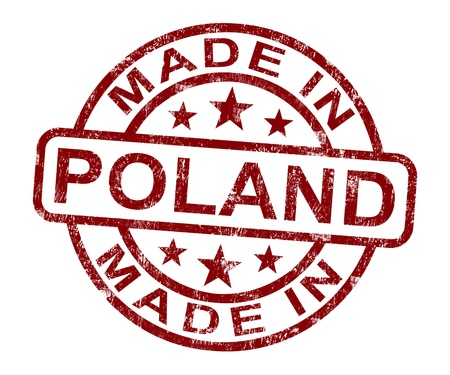Made In Poland Stamp Showing Polish Product Or Produce Stock Photo - 13965456