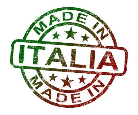 gemaakt: Made In Italia stempel met Product of produceren Vanuit Italië