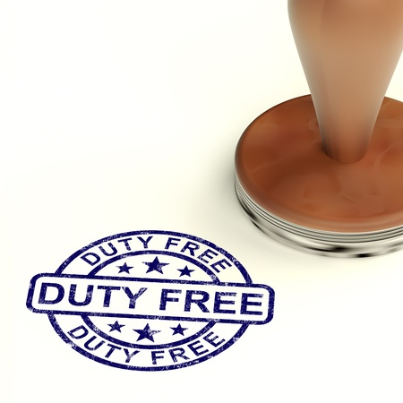 Duty Free Stamp Shows No Tax Shopping photo