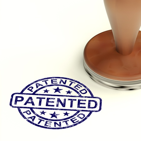 Patented Stamp Showing Registered Patent Or Trademark photo