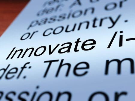 ingenuity: Innovate Definition Closeup Shows Creative Development And Ingenuity