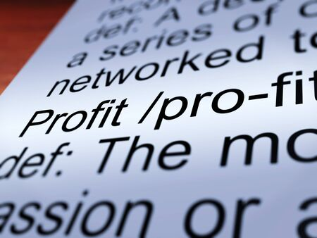 earned: Profit Definition Closeup Shows Income Earned From Business
