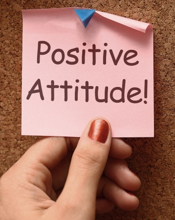 Positive Attitude Note Showing Optimism Or Belief photo