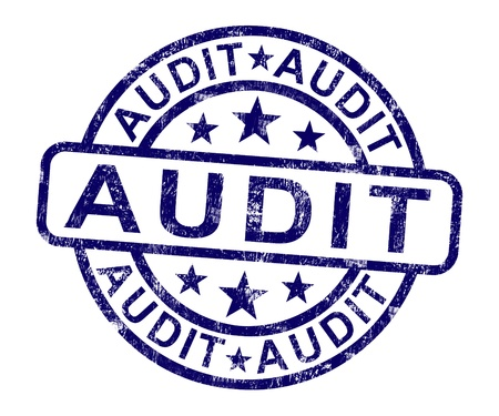 auditing: Audit Stamp Shows Financial Accounting Examination Or Analysis