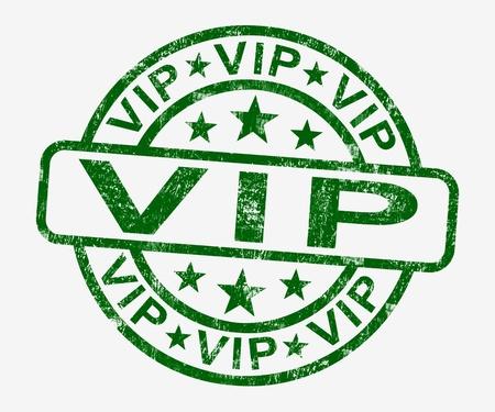 millonario: Sello VIP Muestra famoso o millonario