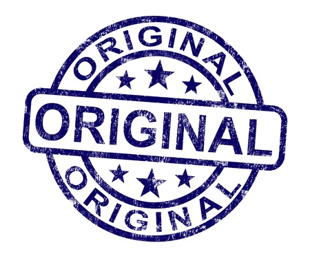 Original Stamp Showing Genuine Authentic Products Stock Photo