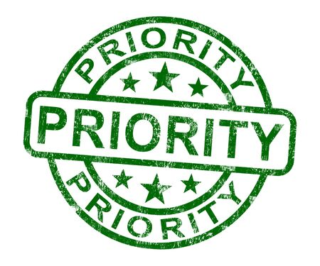 Priority Stamp Showing Rush And Urgent Services Stock Photo - 14064452