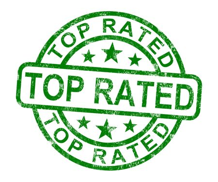 rated: Top Rated Stamp Showing Best Services Or Products Stock Photo