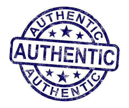 Authentieke stempel met Real Certified Product niet nep
