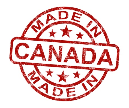 Made In Canada Stamp Showing Canadian Product Or Produce Stock Photo - 14055077