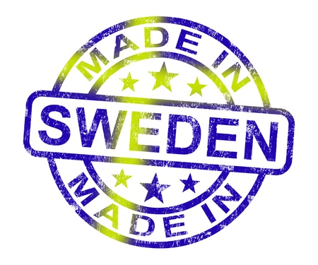 Made In Sweden Stamp Showing Swedish Product Or Produce Stock Photo - 14055037