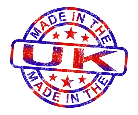 Made In The Uk Stamp Showing Product Or Produce From Britain photo