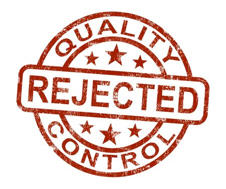 disallowed: Rejected Stamp Shows Disallowed And Failed Products Stock Photo