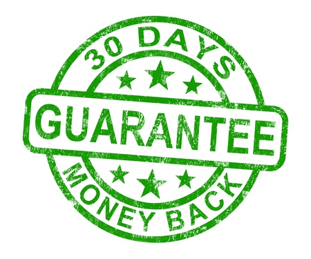 30 Days Money Back Guarantee Rubber Stamp photo