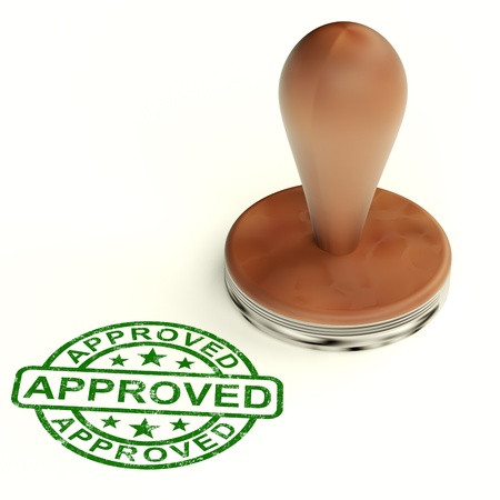 Approved Stamp Shows Quality Excellent Product Stock Photo