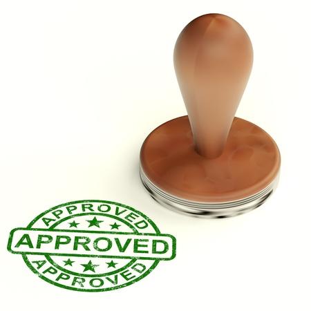 Il timbro approvato mostra un prodotto eccellente di qualità