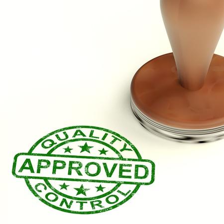 tampon approuv�: Stamp contr�le de la qualit� approuv� Affiche Excellent produit