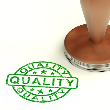 superiority: Quality Stamp Showing Excellent Product Stock Photo