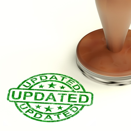 updated: Updated Stamp Shows Improvement Upgrading And Updating