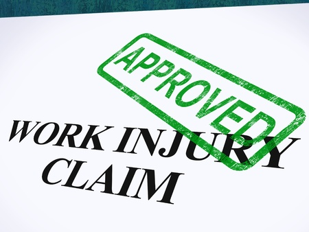 approved: Work Injury Claim Approved Showing Medical Expenses repaid Stock Photo