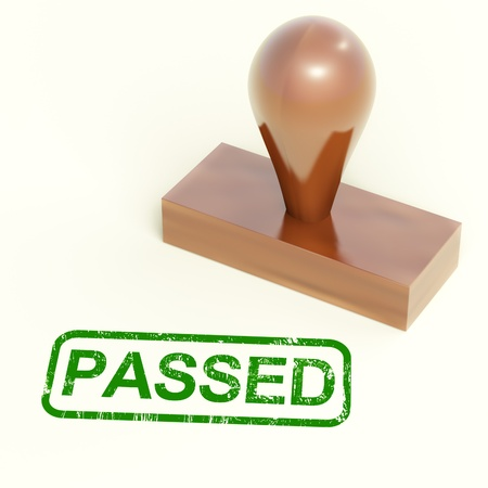 Passed Rubber Stamp Showing Quality Control Approved Stock Photo - 14081023