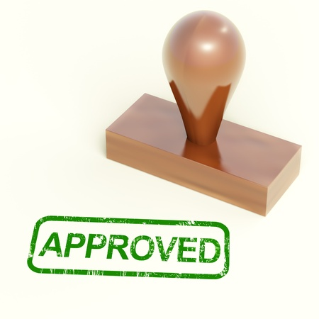 Approved Rubber Stamp Shows Quality Excellent Product Stock Photo - 14081020