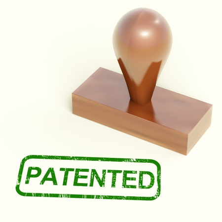 registered: Patented Stamp Showing Trademark Patent Or Registered