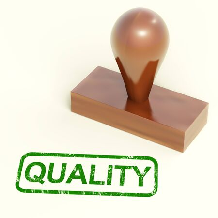 superiority: Quality Stamp Showing Excellent Superior Premium Products Stock Photo