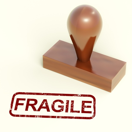 breakable: Fragile Stamp Showing Breakable Product For Delivery