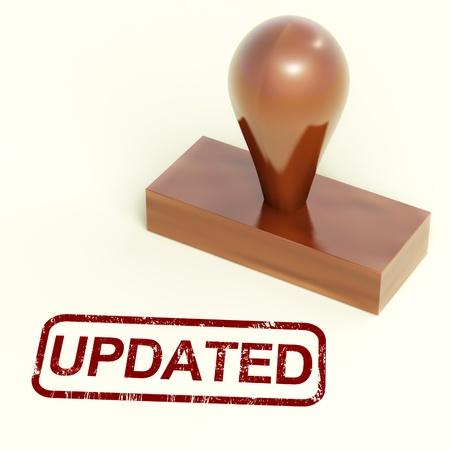 updated: Sello Actualizado muestran una mejor�a renovaci�n o actualizaci�n de Foto de archivo