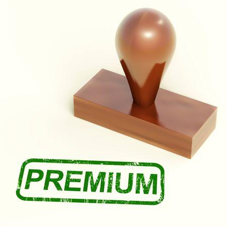 Premium Stamp Shows Excellent Superior Premium Product Stock Photo - 14081030