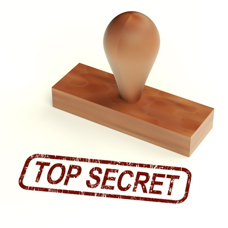 Top Secret Rubber Stamp Showing Classified Correspondence Stock Photo - 14081018