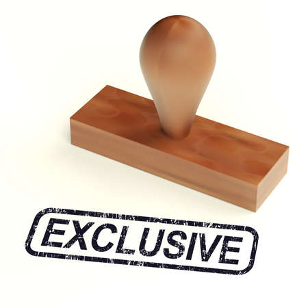 Exclusive Rubber Stamp Showing Limited Products Stock Photo - 14081016