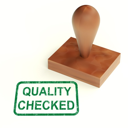 Quality Checked Stamp Showing Product Tested Ok Stock Photo - 14081015