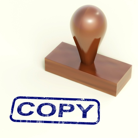 replicated: Copy Rubber Stamp Shows Duplicate Replicate Or Reproduction