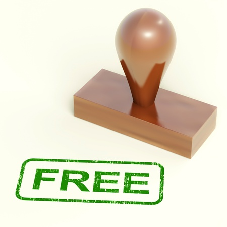 freebie: Free Rubber Stamp Showing Freebie and Promos