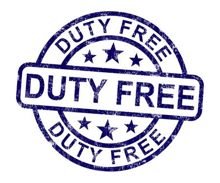 dovere: Bollo gratis mostrati No Shopping Tax Archivio Fotografico