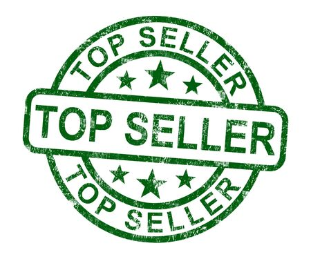 Top Seller Stamp Shows Best Services Or Product Stock Photo - 14081100