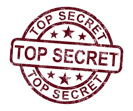 Top Secret Stamp Showing Classified Private Correspondence Stock Photo - 14081105