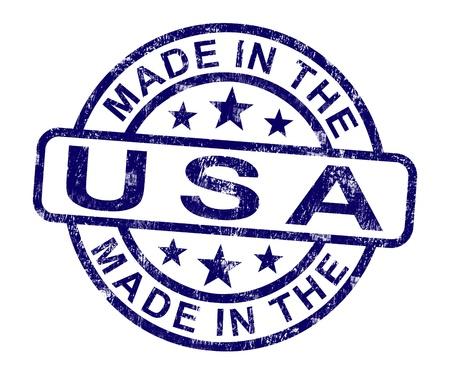 gemaakt: Made in USA stempel met Amerikaanse Product of produceren
