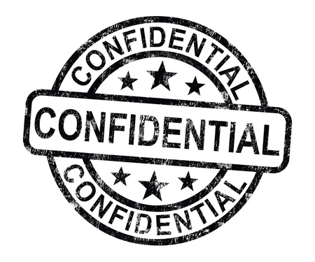 confidentiality: Confidential Stamp Showing Private Correspondence Or Documents